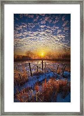 One Day At A Time Framed Print by Phil Koch