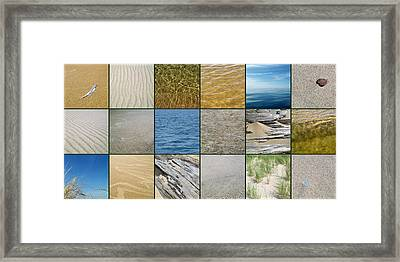 One Day At The Beach  Framed Print by Michelle Calkins