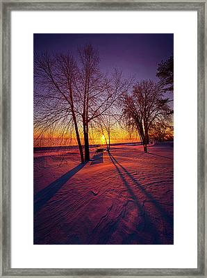 Framed Print featuring the photograph One Day Closer by Phil Koch