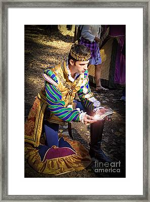 One Day My Prince Will Come Framed Print by Andee Design