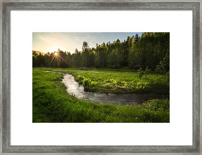 One Day Of Summer Framed Print by Tor-Ivar Naess