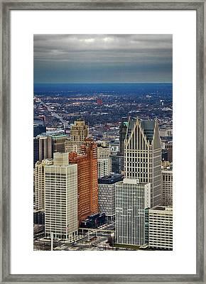 One Detroit Framed Print by Winnie Chrzanowski