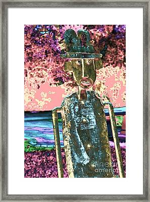 One Dimensional Man Framed Print