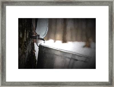 One Drop At A Time - Artistic Framed Print by Chris Bordeleau