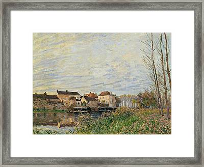 One Evening At Moret End Of October Framed Print by Alfred Sisley