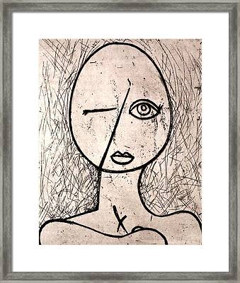 One Eye Framed Print