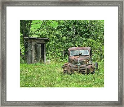 One Eyed Jack Framed Print