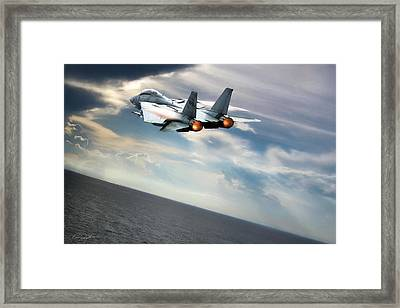 One Fast Cat Vf-31 Framed Print by Peter Chilelli