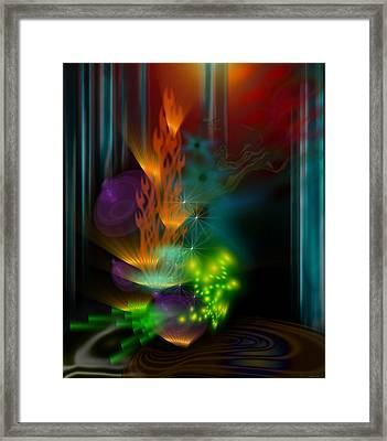 One Flame Framed Print