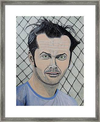 One Flew Over The Cuckoo's Nest. Framed Print by Ken Zabel