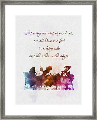 One Foot In A Fairy Tale Framed Print by Rebecca Jenkins