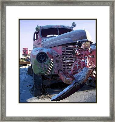 One Foot In The... Framed Print