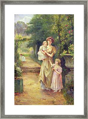 One For Baby Framed Print by Ernest Walbourn