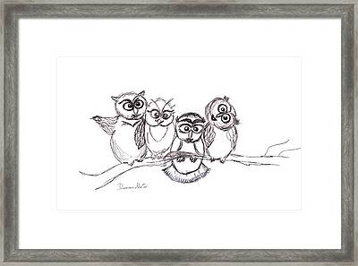 One Happy Family Framed Print