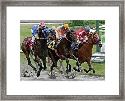 One Hoof Down Framed Print