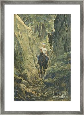 One Horse Gap Framed Print by Don  Langeneckert