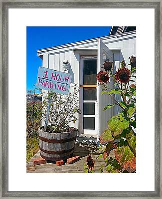 One Hour Parking Framed Print by Marnie Malone