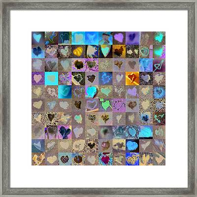 One Hundred And One Hearts Framed Print by Boy Sees Hearts