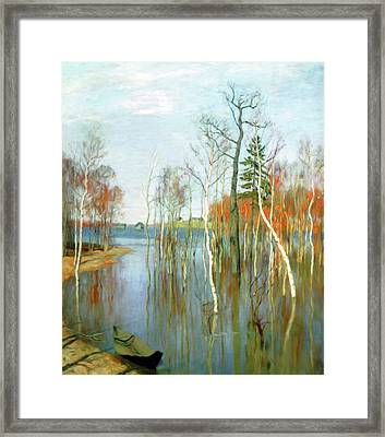 One Kiss Of Autumn Framed Print