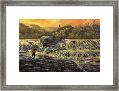 One Last Cast Framed Print by Kurt Jacobson