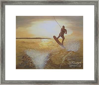 One Last Jump Framed Print by Jennifer  Donald