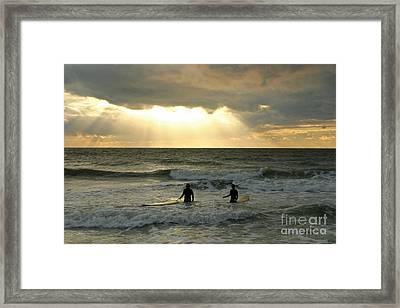 One Last Wave Framed Print by Matt Tilghman