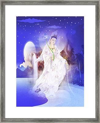 One Leaf Kuan Yin 1 Framed Print