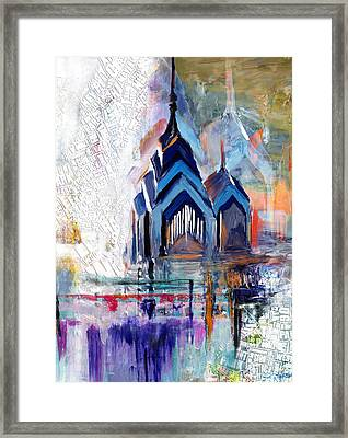 One Liberty Place And Two Liberty Place 229 1 Framed Print by Mawra Tahreem