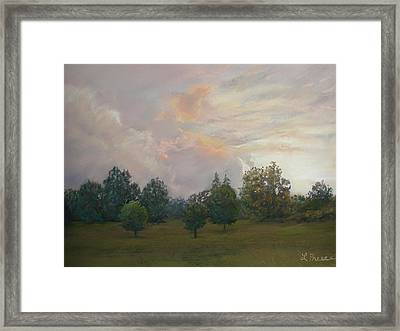 One Magnificent Evening Framed Print by Linda Preece