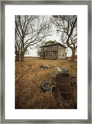 Framed Print featuring the photograph One Man's Trash... by Aaron J Groen
