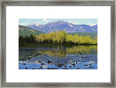 One Mile Lake 1 Framed Print by Walter Fahmy