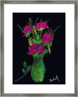 One More Rose Framed Print by Thomas J Norbeck