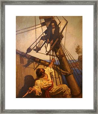 One More Step Mr. Hands - N.c. Wyeth Painting Framed Print by PaintingAssociates
