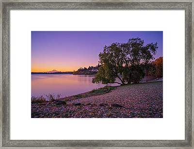 One Morning At The Lake Framed Print
