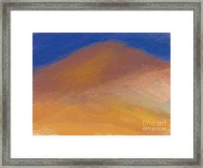 One Mountain Framed Print by Margot Paisley