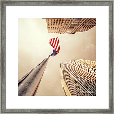 One Nation Framed Print by Evelina Kremsdorf