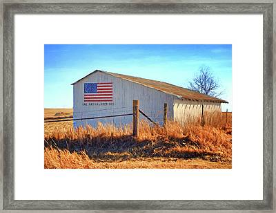 One Nation Under God - Barn Framed Print by Nikolyn McDonald