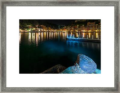 One Night In Portofino - Una Notte A Portofino Framed Print