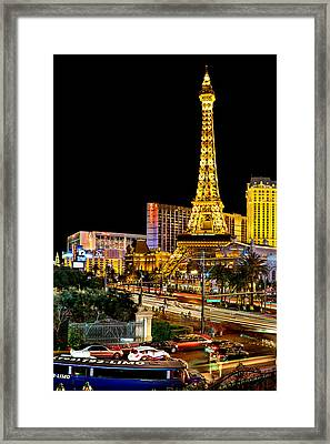 One Night In Vegas Framed Print by Az Jackson