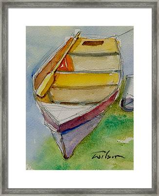 One Oar Gone Framed Print by Ron Wilson