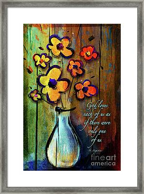 One Of A Kind Framed Print by Shevon Johnson
