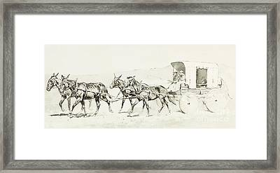 One Of Williamson's Stages Framed Print by Frederic Remington