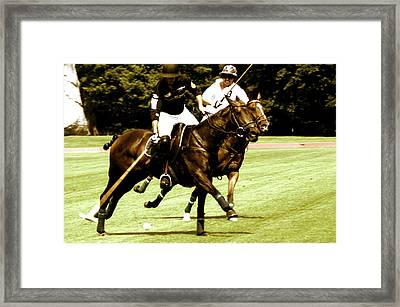 One On One Polo Framed Print