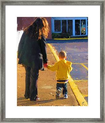 One On One Time Framed Print