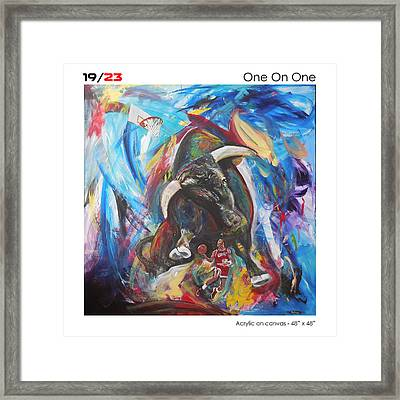 One On One Framed Print