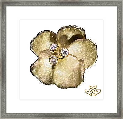 One Pansy Framed Print by Jane A  Gordon