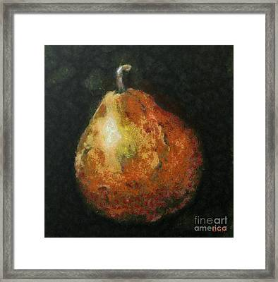 One Pear Framed Print