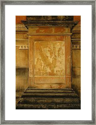 One Pillar ...of The The Lions Of Leon Framed Print