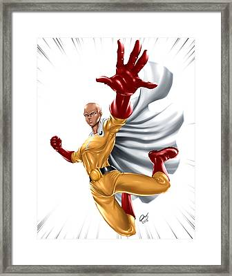 One Punch Man Framed Print by Pete Tapang