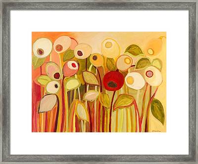 One Red Posie Framed Print by Jennifer Lommers